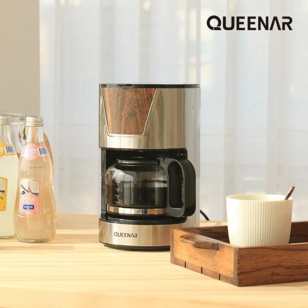 [퀸나] 아로마 가정용 커피 메이커 머신 QNCM-W7000S 이미지